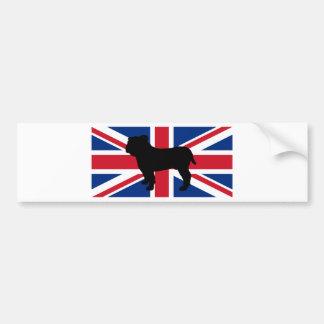 Autocollant De Voiture drapeau United_Kingdom.png de silhouette de