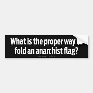 Autocollant De Voiture Drapeaux se pliants d'anarchiste