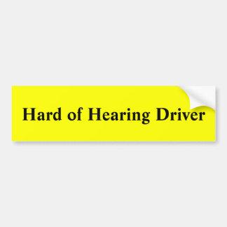 Autocollant De Voiture Dur du conducteur d'audition