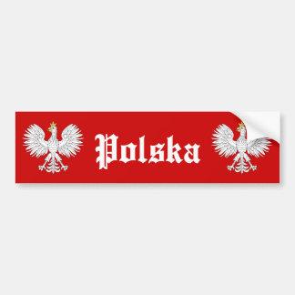 Autocollant De Voiture Eagle polonais Polska