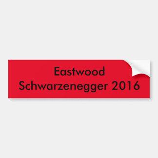 Autocollant De Voiture Eastwood Schwarzenegger pour le président 2016
