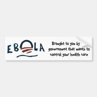 Autocollant De Voiture Ebola-Gouvernement à son meilleur