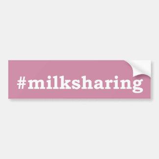 Autocollant De Voiture écriture blanche #milksharing