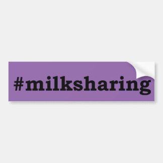 Autocollant De Voiture écriture noire #milksharing