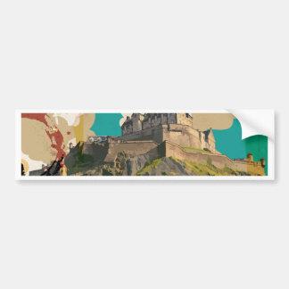 Autocollant De Voiture Edingburgh, affiche vintage de voyage de l'Ecosse