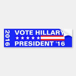 Autocollant De Voiture Élection présidentielle de Hillary 2016 de vote