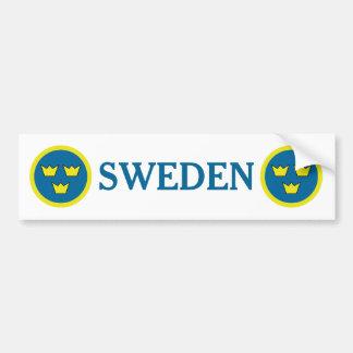 Autocollant De Voiture Emblème de Suédois de couronnes de la Suède trois
