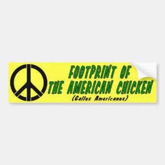 Autocollant De Voiture Empreinte de pas du poulet américain
