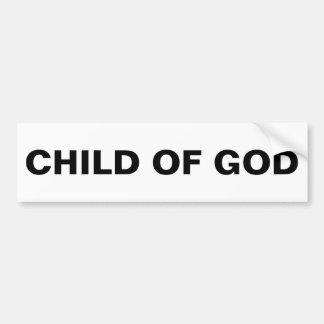 """Autocollant De Voiture """"Enfant adhésif pour pare-chocs de Dieu"""""""