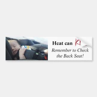 Autocollant De Voiture Enfant laissé dans le danger chaud de voiture du