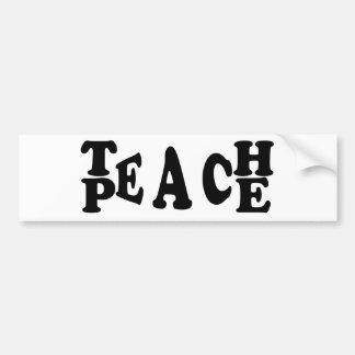 Autocollant De Voiture Enseignez la paix