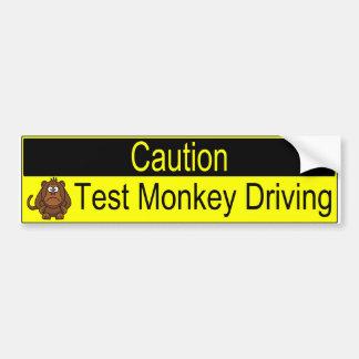 Autocollant De Voiture Entraînement de singe d'essai de précaution