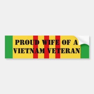 Autocollant De Voiture Épouse fière d'un vétéran du Vietnam
