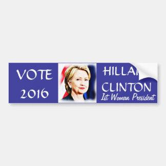 Autocollant De Voiture ęr Le Président Hillary Clinton 2016_ de femme