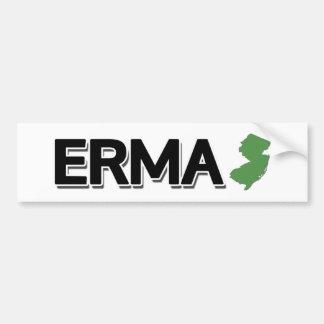 Autocollant De Voiture Erma, New Jersey