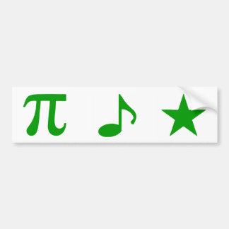 Autocollant De Voiture Espéranto de musique de maths - adhésif pour
