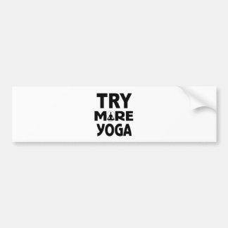 Autocollant De Voiture Essayez plus de yoga