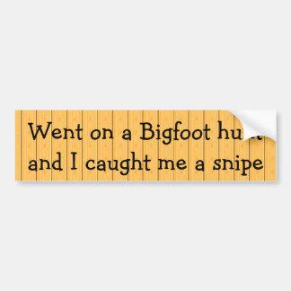 Autocollant De Voiture Est allé sur une chasse à Bigfoot et je m'ai