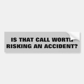 Autocollant De Voiture Est-ce que c'appel intéressant risquer est un