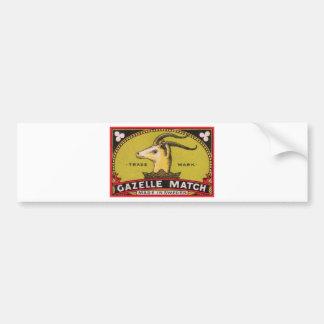 Autocollant De Voiture Étiquette suédois de boîte d'allumettes de gazelle