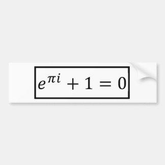 Autocollant De Voiture Euler's Formule