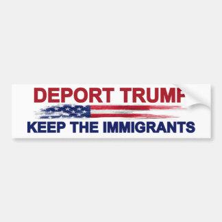Autocollant De Voiture Expulsez l'atout gardent les immigrés