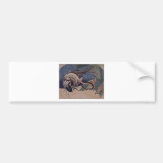 Autocollant De Voiture Faisan et serpent par Katsushika Hokusai