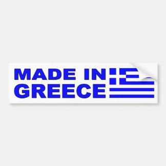 Autocollant De Voiture Fait dans le décalque de voiture de la Grèce avec