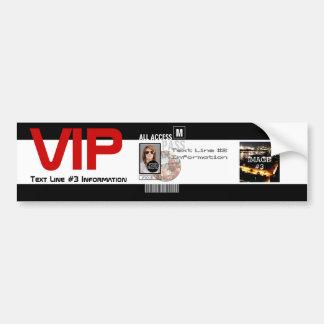 Autocollant De Voiture Faites à votre propre passage de VIP 8 manières de
