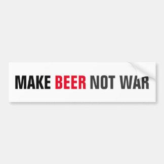 Autocollant De Voiture Faites la guerre de bière pas