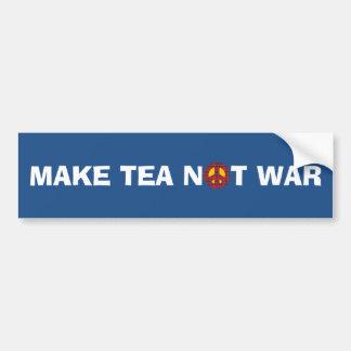 Autocollant De Voiture Faites le thé ne pas lutter aucun adhésif pour