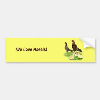 Autocollant De Voiture Famille blonde comme les blés de poulet d'Aseel