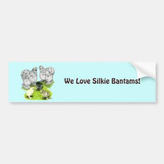 Autocollant De Voiture Famille petite d'éclaboussure de Silkie