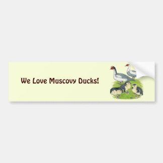 Autocollant De Voiture Famille pie bleue de Muscovy de canards