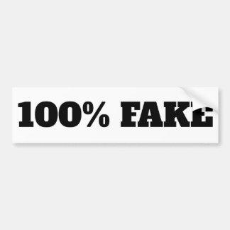 Autocollant De Voiture Faux de 100% - blanc d'autocollant