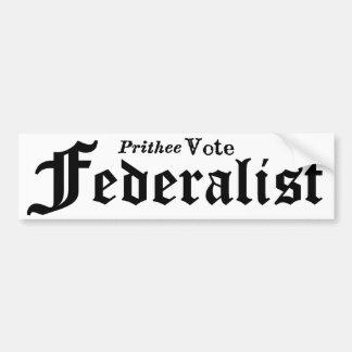 Autocollant De Voiture Fédéraliste de vote