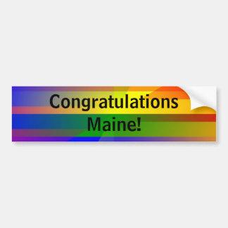 """Autocollant De Voiture """"Félicitations Maine ! """""""