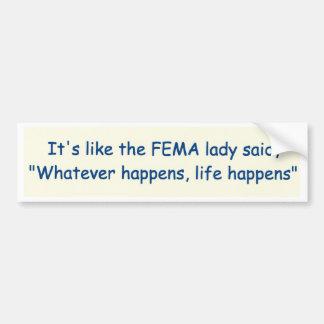 Autocollant De Voiture FEMA indiquant la version deux d'adhésif pour