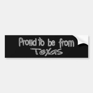 Autocollant De Voiture Fier d'être d'adhésif pour pare-chocs du Texas B&W