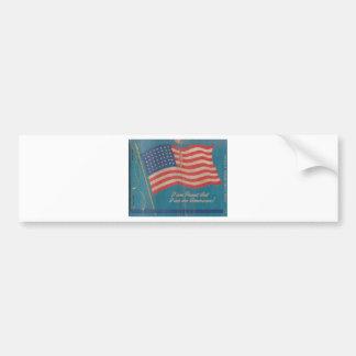 Autocollant De Voiture Fier vintage d'être copie patriotique américaine