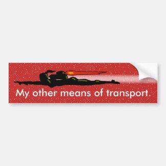 Autocollant De Voiture FILLE de PAQUET de JET par Jetpcakcorps