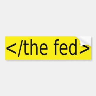 Autocollant De Voiture Finissez l'autocollant de Fed
