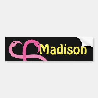 Autocollant De Voiture Flamants roses de Madison d'amusement visuel