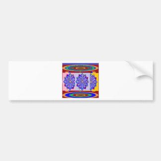 Autocollant De Voiture Fleur BLEUE de roue de Chakra de DIAMANT royale
