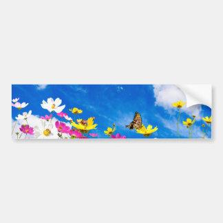 Autocollant De Voiture Fleurs et ciel d'été