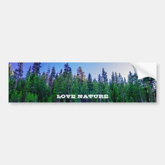 Autocollant De Voiture Forêt et ciel de vallée de Yosemite