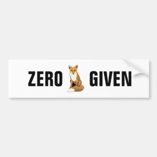 Autocollant De Voiture Fox zéro donné