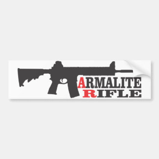 Autocollant De Voiture Fusil d'Armalite, adhésif pour pare-chocs