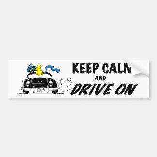 Autocollant De Voiture Gardez le calme et conduisez dessus