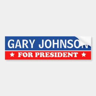 Autocollant De Voiture Gary Johnson pour le président 2016